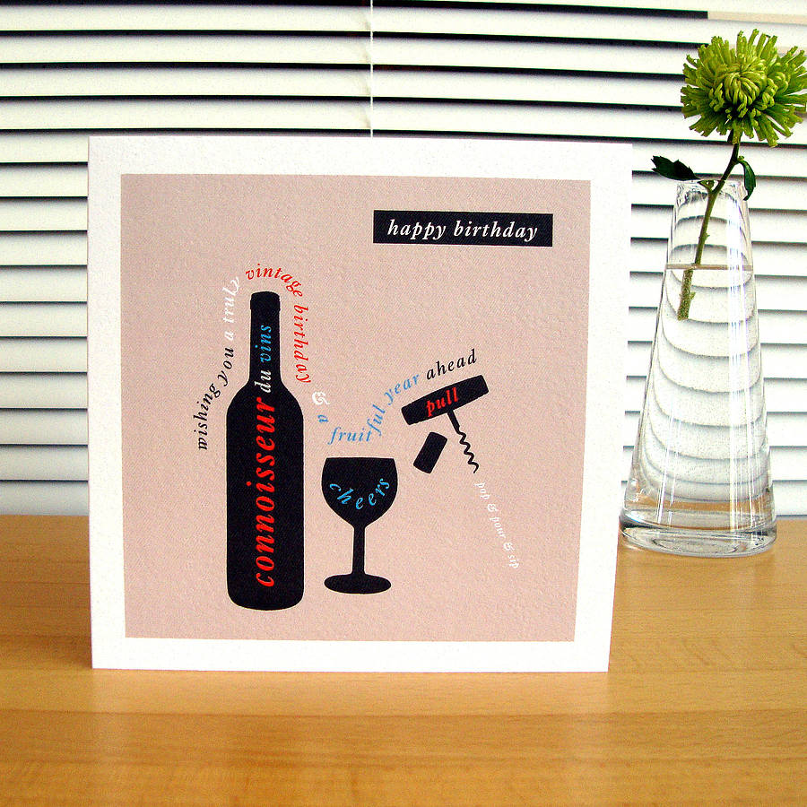 Personalised car boat wine birthday cards by designed wine birthday card music birthday card bookmarktalkfo Images