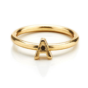 Alpha Initial Ring In Gold - rings