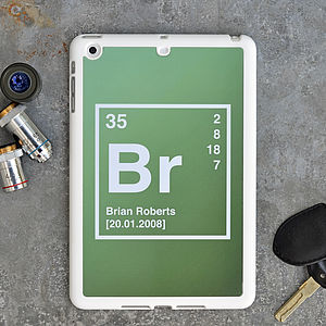 Periodic Table Personalised iPad Mini Case - phone & tablet covers & cases
