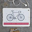 iPad / iPad Mini Case 'Anatomy Of A Bicycle'