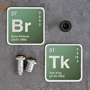 Personalised Periodic Table Coaster - placemats & coasters