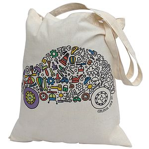 Colour In Car Tote Bag