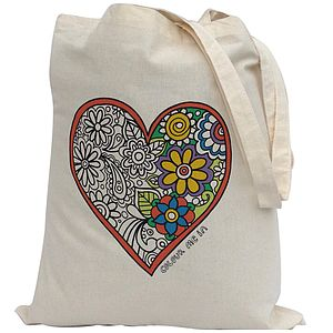 Colour In Heart Tote Bag - girls' bags & purses