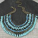Weave And Bead Necklace