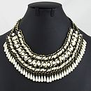 Weave And Bead Necklace In Five Colours