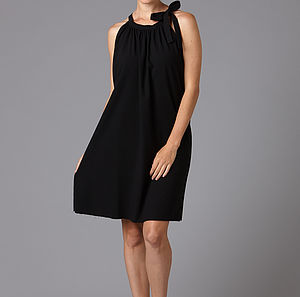 Black Crepe Dress - women's fashion