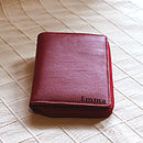 Example of standard engraving, short side of the wallet