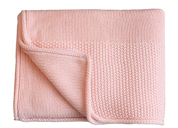 New Baby's Super Soft Cotton Blanket Pink