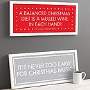 Personalised Christmas Motto Print