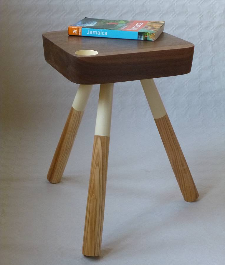 retro style side table by circle 52 design. Black Bedroom Furniture Sets. Home Design Ideas