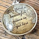 'Let's Find A Beautiful Place' Keyring