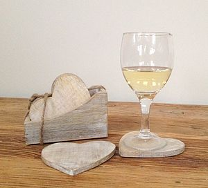 Wooden Heart Coaster Set - placemats & coasters