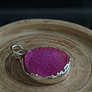 Hot Pink Druzy Necklace