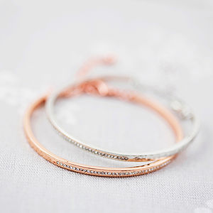 Bangle Made With Swarovski Crystals - pretty pastels