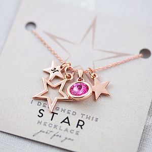 Design Your Own Personalised Star Necklace - gifts for her