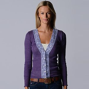 Classic Wide Lace Cardigan - women's fashion