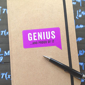 'Genius …And Proud Of It' Journal - advertising & media