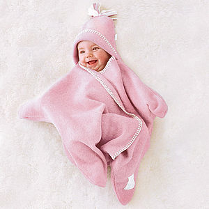 Star Fleece Baby Wrap - gift ideas for babies