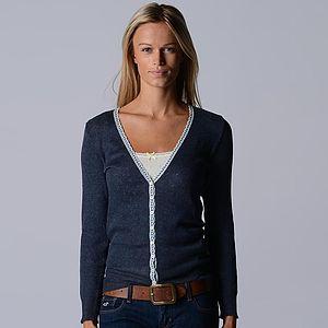 Our Narrow Lace Pointelle Cardigan - women's fashion
