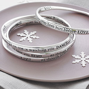 Set Of Four Meaningful Words Bangles - anniversary gifts