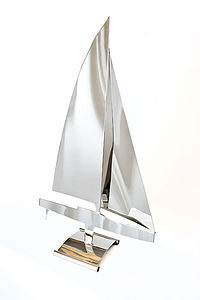 Sail Boat Sculpture - gifts for the home