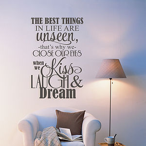 'The Best Things In Life' Wall Sticker - decorative accessories
