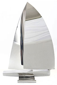 Handmade Clipper Yacht Sculpture