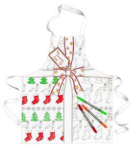 Christmas Doodle Apron To Personalise   Child