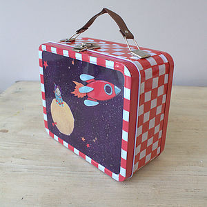 Rocket Ship Tin Case - home sale