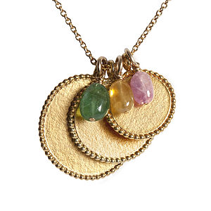 18ct Gold Vermeil Pearled Medals Necklace - necklaces & pendants