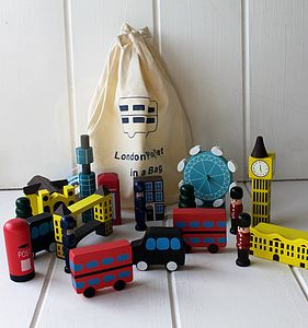 Big London In A Bag - traditional wooden toys