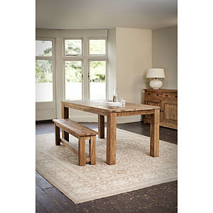 Reclaimed Wood Parsons Table - furniture