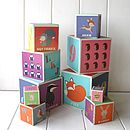 Stackable Woodland Alphabet And Number Blocks