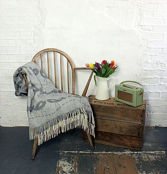 Lovebird Limited Edition Lambswool Throw
