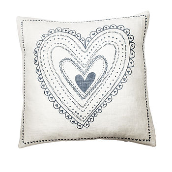 Zeena The Heart Square Cushion