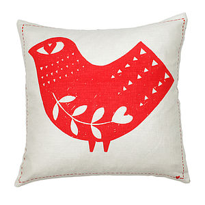 Fred The Bird Square Cushion - cushions