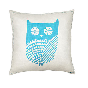 Clive The Owl Square Cushion