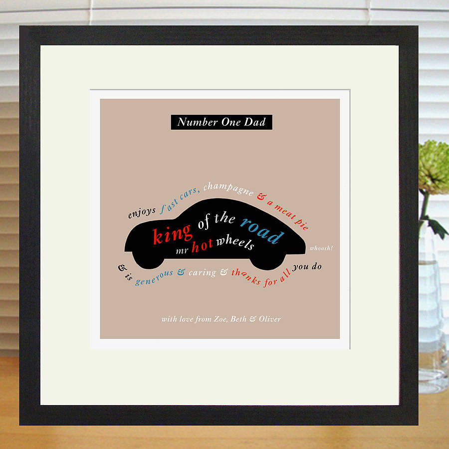 Personalised Car Lover's Print