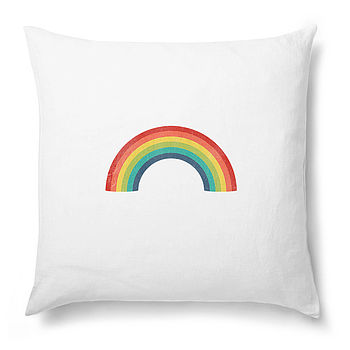 Vintage Style Rainbow Cushion