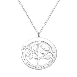 Grandma's Personalised 'Tree Of Life' Necklace - necklaces & pendants