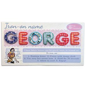 Appliqué Letters Boys Set Of Six - toys & games