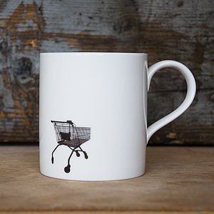 Shopping Trolley Mug - crockery & chinaware