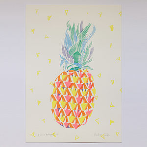 Pineapple Solo Screen Print - home accessories
