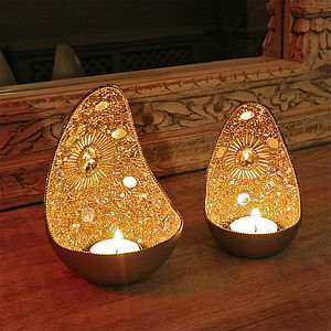 Zenza Beaded Egg Tealight Lantern