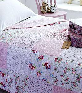 Girls Pink Patchwork Sleeping Bag Picnic Rug