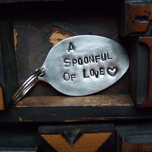 A Spoonful Of Love Key Ring - gifts for him