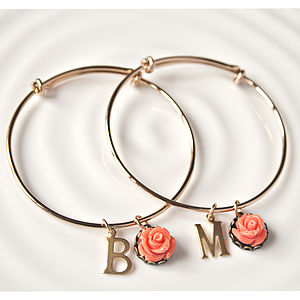 Personalised Vintage Style Bangle - charm jewellery