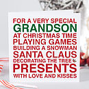 'Very Special Grandson' Christmas Card