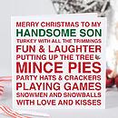 'My Handsome Son' Christmas Card