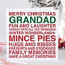 Merry Christmas Grandad Card